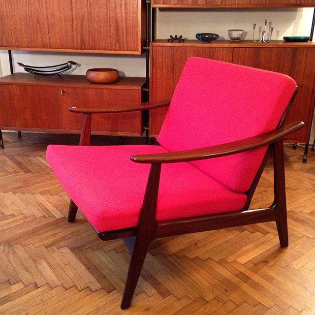 Bananas Dänischer Lounge Chair Aus Teakholz 60er Jahre